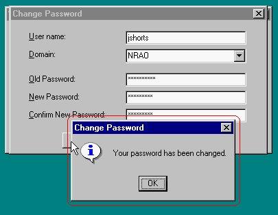 how to change domain password